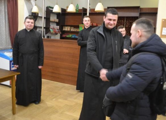 Майбутні офіцери відвідали студентів Львівської семінарії УГКЦ