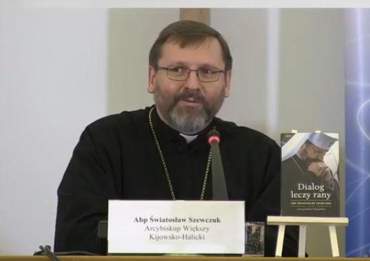 Глава УГКЦ зустрівся з архієпископом і мером Варшави, а також презентував полякам свою книжку «Діалог лікує рани»