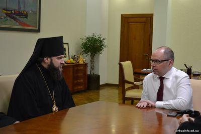 Єпископ УПЦ КП обговорив державно-церковні питання з головою Одеської облдержадміністрації