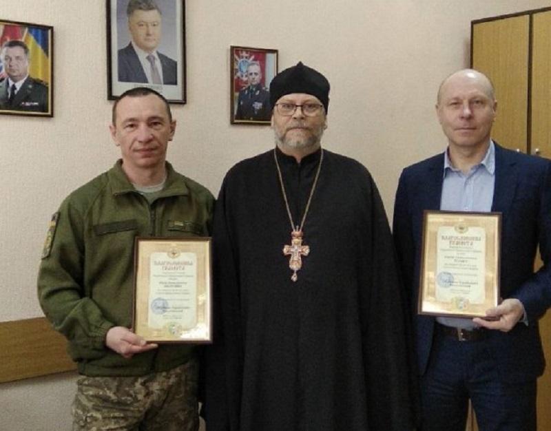 Військовим медикам вручили грамоти УПЦ