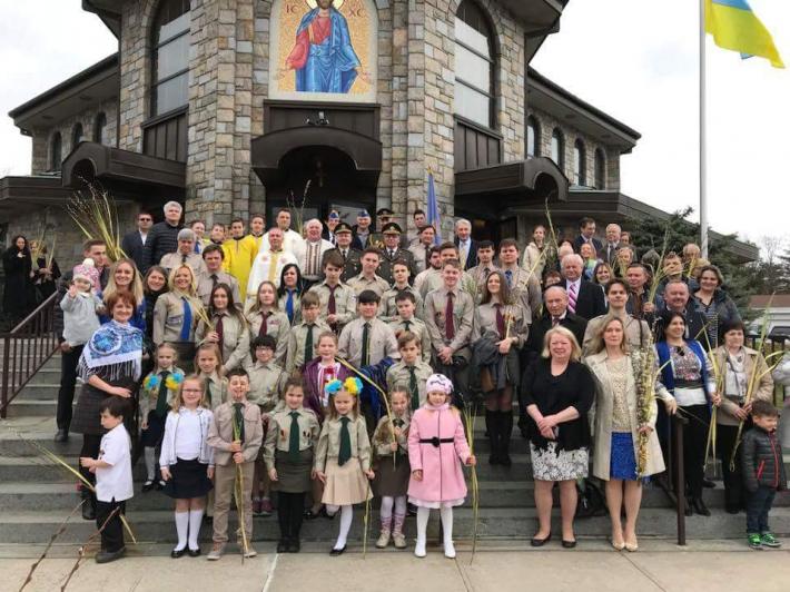 Делегація Міноборони України, перебуваючи в США, освятила лозу в храмі УГКЦ