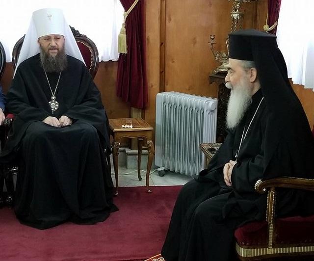 """Єрусалимський патріарх молиться за Україну і бажає главі УПЦ """"сили, щоб подолати розкол"""""""
