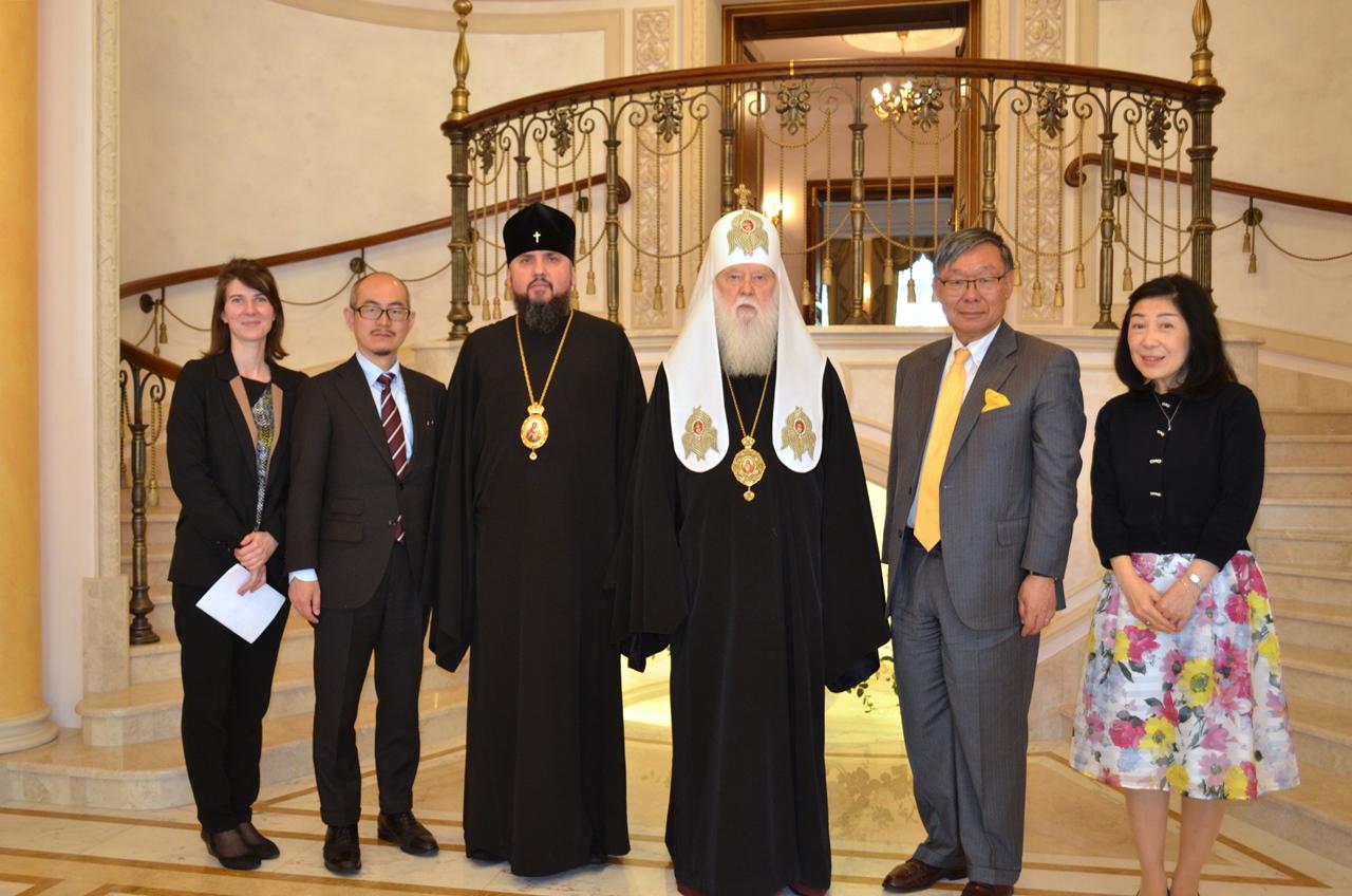 Патріарх Філарет обговорив з послом Японії релігійну ситуацію в Україні