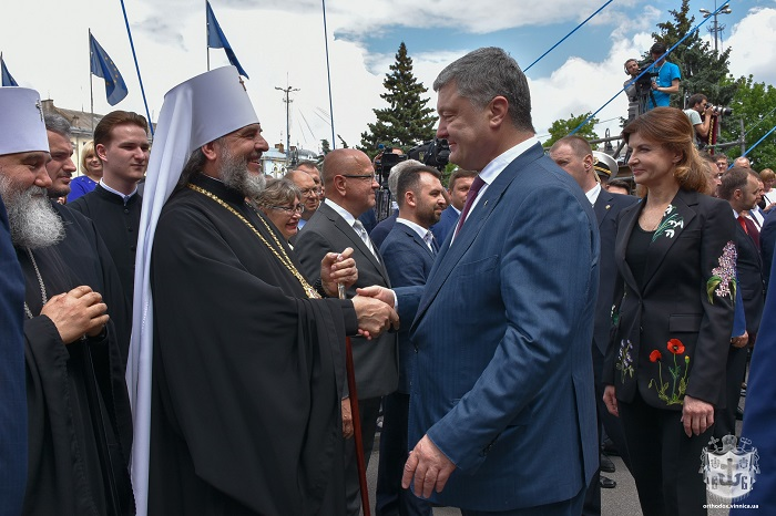 Архієреї УПЦ разом з президентом святкували День Європи