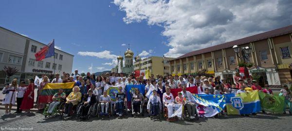 В Закарпатье на международном фестивале для людей с инвалидностью прошел христианский день