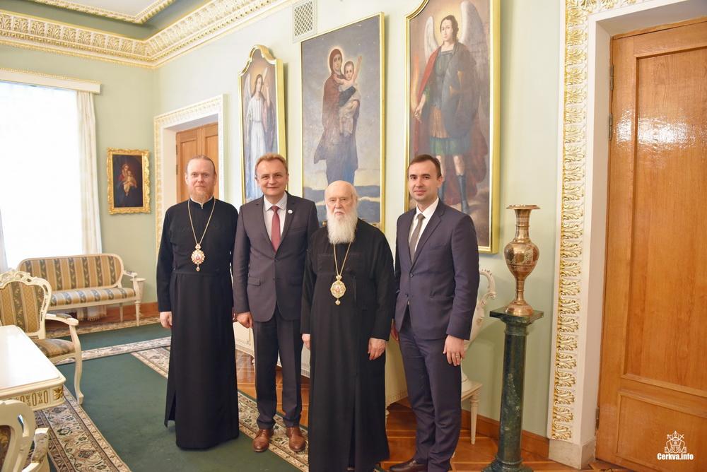 Глава УПЦ КП обговорив з міським головою Львова міжконфесійні та державно-церковні відносини