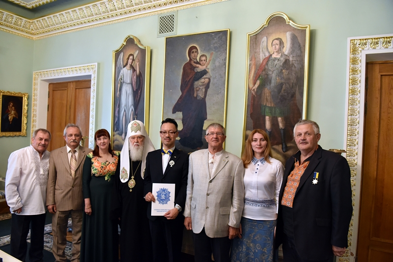 Японського економіста, охрещеного в УПЦ КП, нагородили орденом за підтримку помісної Української Церкви