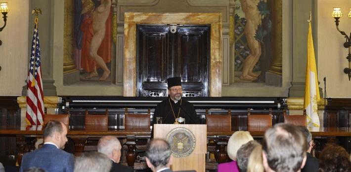 Глава УГКЦ в Посольстві США у Ватикані: «Важливою місією нашої Церкви є підготувати серця людей до прощення та примирення»