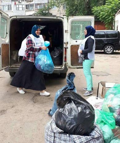 Одеські мусульмани зібрали одяг і взуття для регіонального товариства сліпих