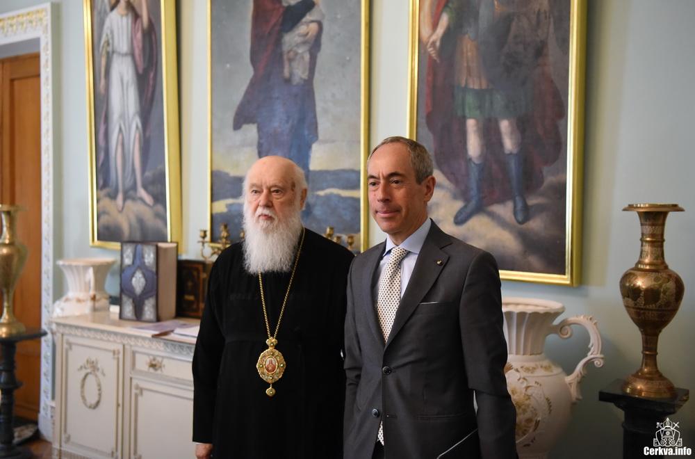 Глава УПЦ КП обговорив з послом Мальтійського Ордену питання співпраці для допомоги населенню Донбасса