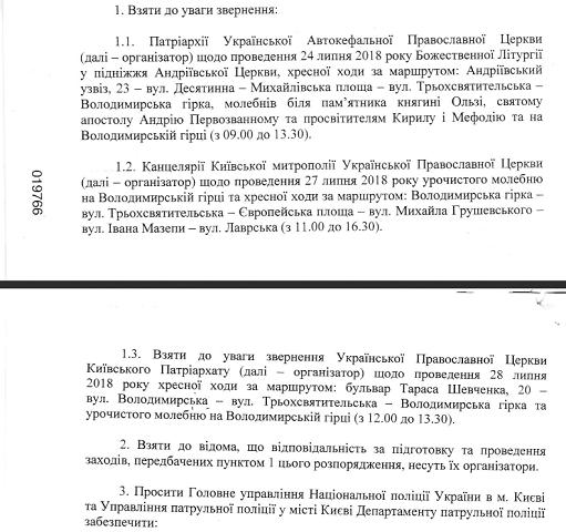 Церкви оприлюднили програми святкувань 1030-річчя Хрещення Київської Русі-України