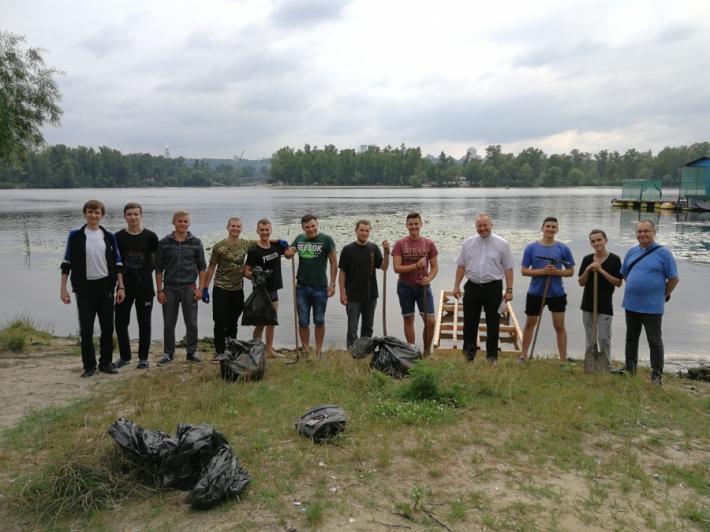 Семінаристи УГКЦ провели екологічну акцію «Прибери Дніпро - колиску хрещення»