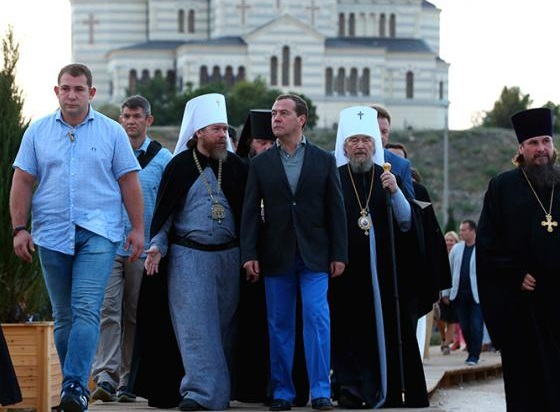 Епархия УПЦ отметила 1030-летие крещения Руси вместе с премьер-министром России