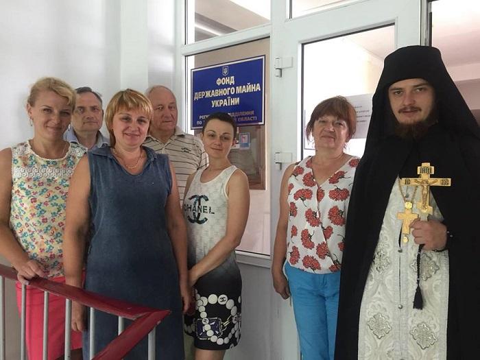 Намісник монастиря УПЦ КП освятив приміщення Фонду держмайна у Житомирі