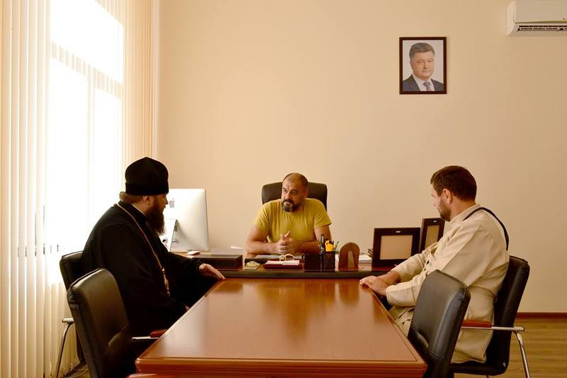 Єпископ УПЦ КП обговорив з ректором Одеського державного університету внутрішніх справ питання співпраці