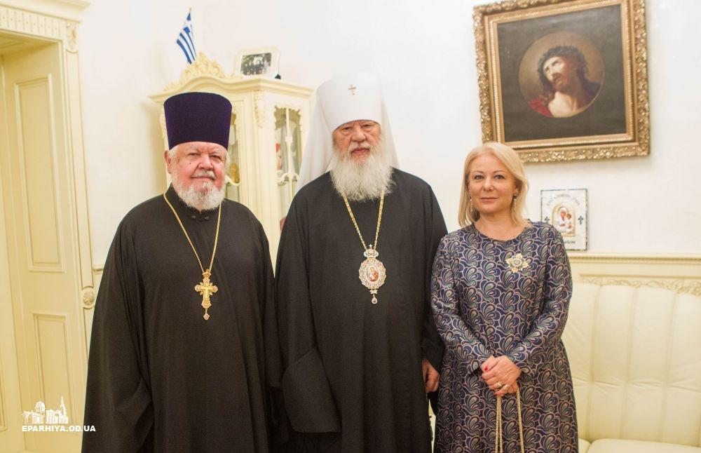Одеський митрополит УПЦ нагородив генерального консула Греції