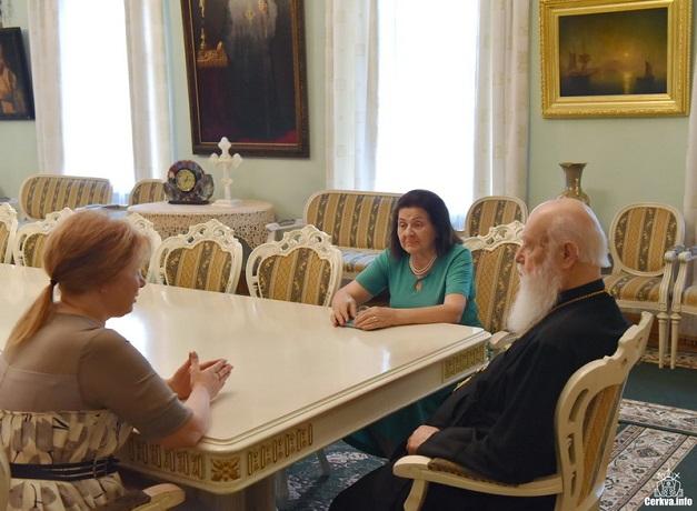 Патріарх Філарет знайшов спільну мову з представницями руху за традиційні сімейні цінності