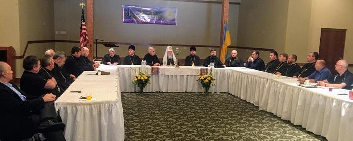 Патріарх Філарет очолив конференцію настоятелів та голів управ парафій вікаріату УПЦ КП в США та Канаді