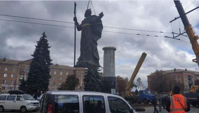 Вместо сепаратиста Артема в Кривом Роге устанавливают 22-метровый памятник князю Владимиру