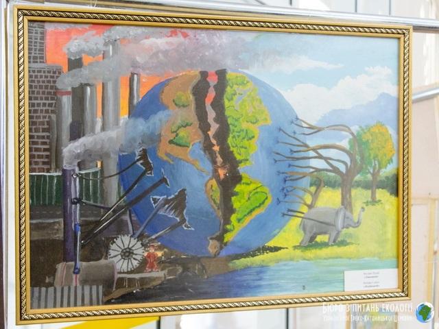 Бюро екології УГКЦ організувало у міськраді Дніпра виставку малюнків дітей