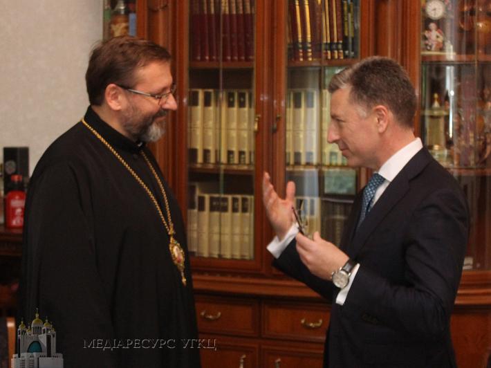 У Римі глава УГКЦ розповів представнику Держдепартаменту США про участь греко-католиків у допомозі жертвам війни