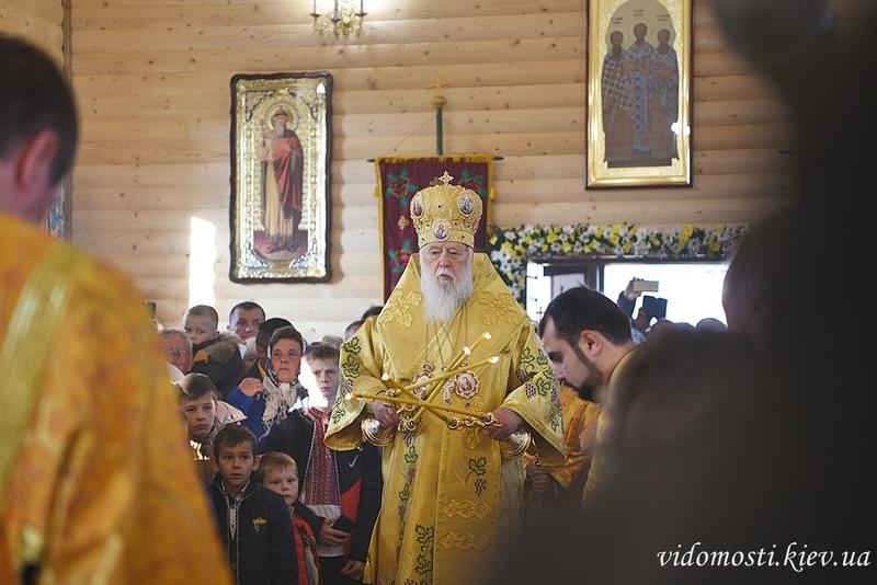 Глава УПЦ КП освятив новозбудований храм поблизу Почаєва