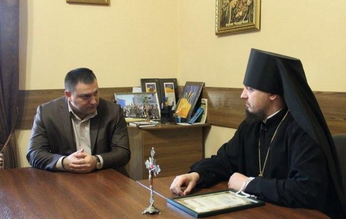 Єпископ УПЦ КП обговорив з начальником поліції Житомирщини запобігання релігійних конфліктів