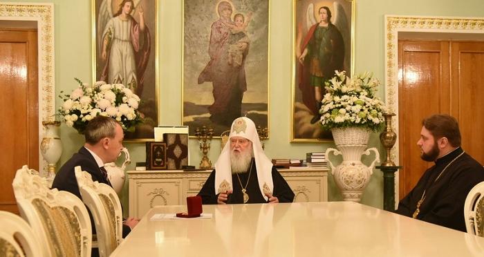 Патріарх Філарет обговорив з головою Рівненської обладміністрації церковно-суспільні питання