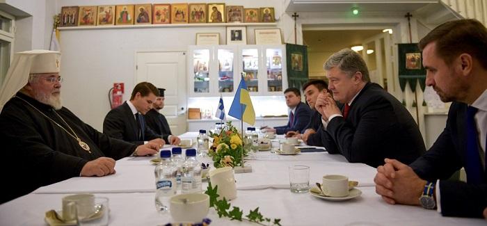 Порошенко дістав підтримку української автокефалії у Фінляндській Православній Церкві