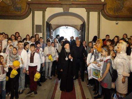 Діти учасників АТО зустрілися з Вселенським патріархом Варфоломієм