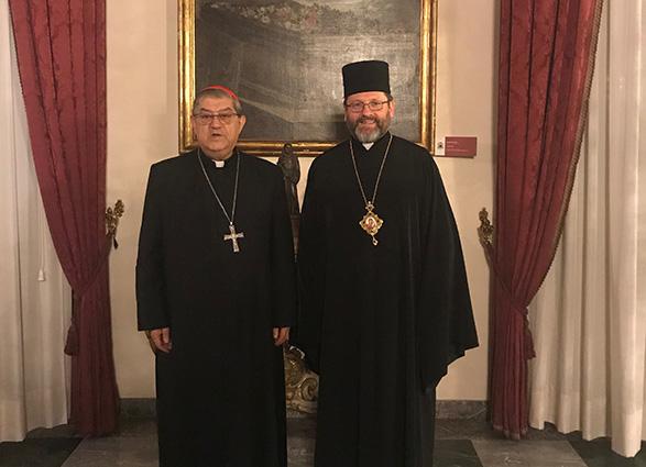 Глава УГКЦ обговорив ситуацію в Україні з кардиналом і архієпископом Неаполя