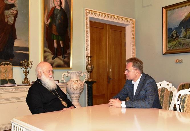 Патріарх Філатер обговорив з мером Львова міжконфесійний діалог в Україні