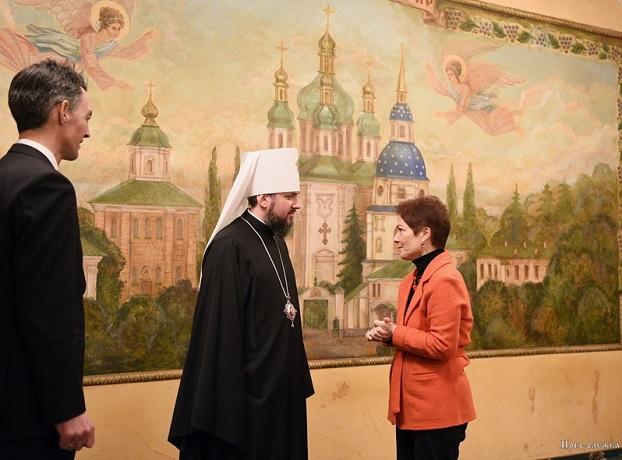 Предстоятеля ПЦУ привітали представники Світового конгресу українців та посол США