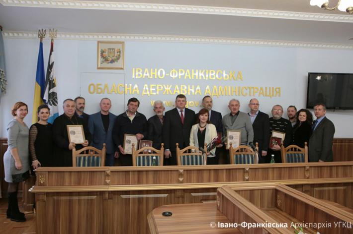 Прикарпатським митцям вручили премію імені патріарха Володимира Романюка та митрополита Андрея Шептицького