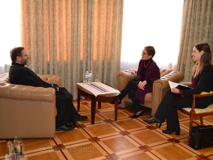 Глава УГКЦ обговорив з послом США суспільно-політичну та релігійну ситуацію в Україні