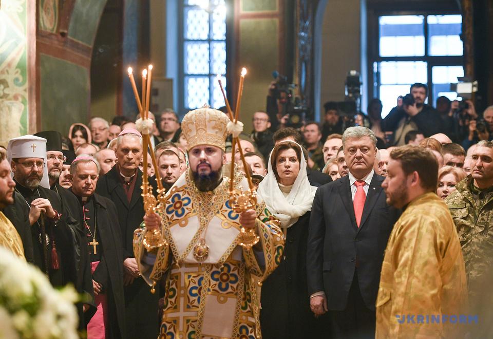 У соборі Софії Київської відбулася інтронізація предстоятеля Православної Церкви України