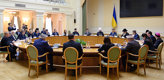 Прем'єр-міністр України підкреслює «високий рівень взаємодії» з Всеукраїнською Радою Церков