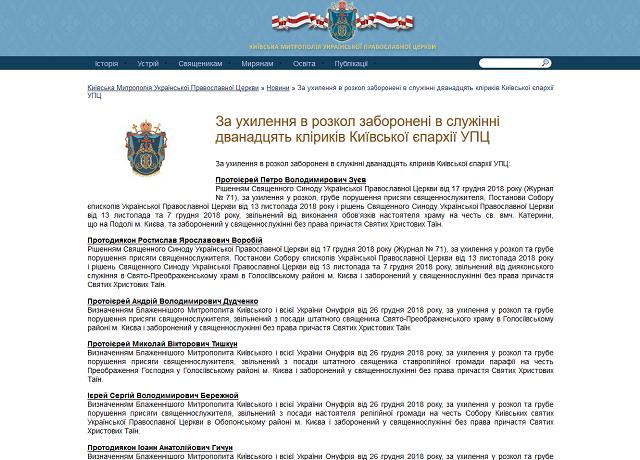12 київських священнослужителів УПЦ (МП) перейшли до ПЦУ