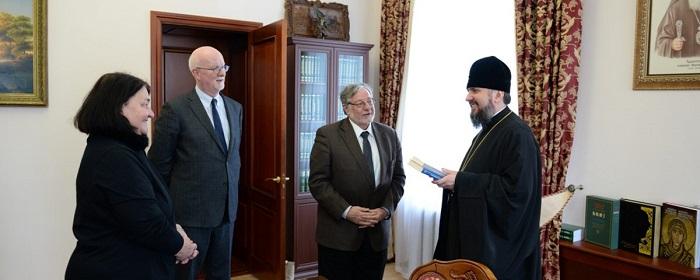 Глава ПЦУ обговорив релігійну ситуацію в Україні з делегацією Джорджтаунського університету