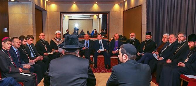 Всеукраїнська Рада Церков провела виїзне засідання в Єрусалимі та зустрілася зі спікером парламенту Ізраїлю