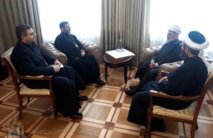 Глава УГКЦ обговорив з очільниками Духовного управління мусульман України християнсько-мусульманські стосунки