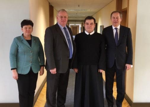 Канцлер уряду Литви і настоятель монастиря УГКЦ у Вільнюсі обговорили питання співробітництва