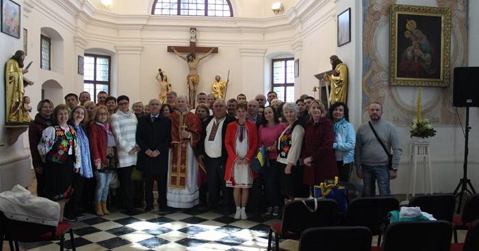 Священик ПЦУ звершив літургію для українців Словенії