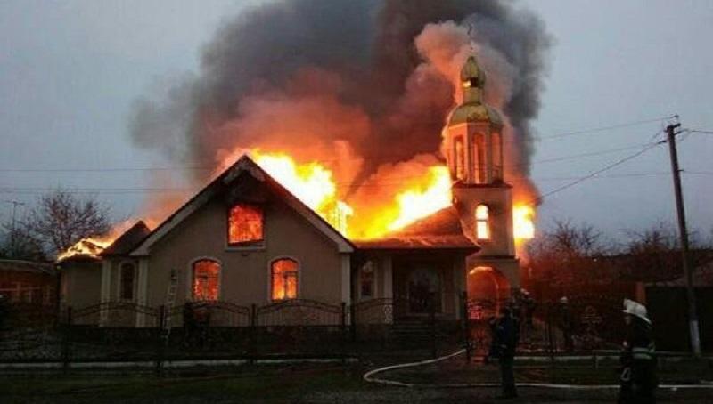 В УПЦ (МП) перекладають відповідальність за пожежу в храмі на владу Харківщини