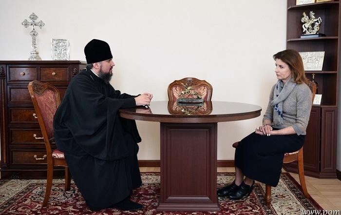 Глава ПЦУ обговорив з дружиною президента благодійні проекти та долю країни після виборів