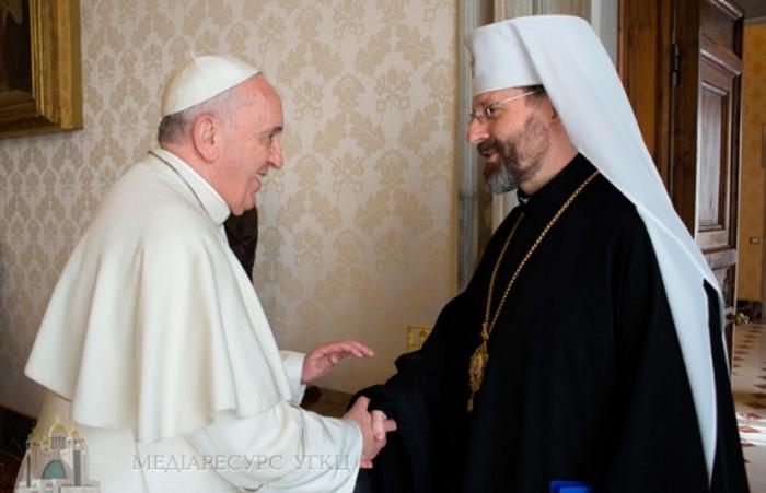 Папа Франциск запросив перших осіб УГКЦ до опрацювання своєї стратегії щодо майбутнього України та Української Церкви