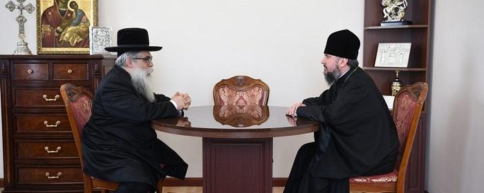 Глава ПЦУ і головний рабин України обговорили релігійну і соціально-політичну ситуацію в країні