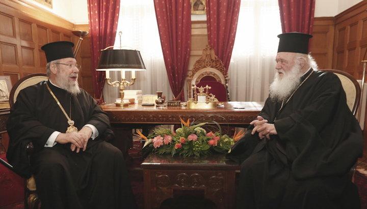 Предстоятелі Кіпрської та Елладської Церков обговорили українське церковне питання