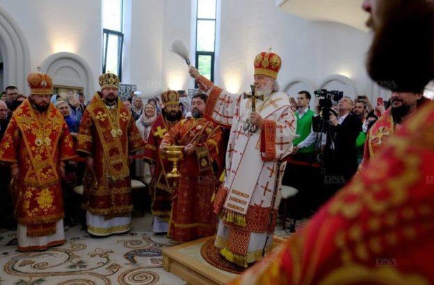 Хор академії УПЦ (МП) разом з єпископом допомагали патріарху Кирилу у Страсбурзі