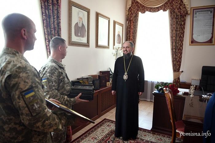 Командування 101-ї бригади ЗСУ привітало митрополита Епіфанія з днем тезоіменитства
